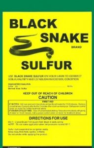 SULFUR SNAKE REPELLENT