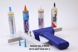 ROACH GEL 4 PACK KIT WITH BAIT GUN